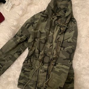 Forever 21 Utility Jacket Army
